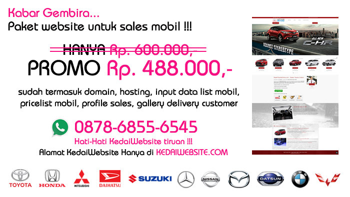 Website Sales Mobil Murah